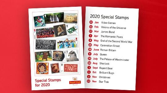Royal Mail reveal 2020 stamp schedule   All About Stamps