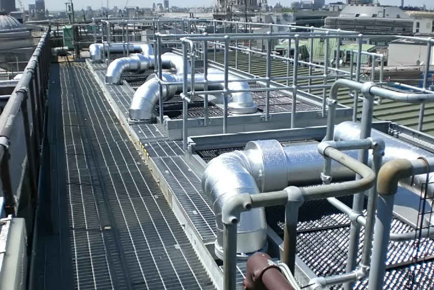 Pipework on the roof-top