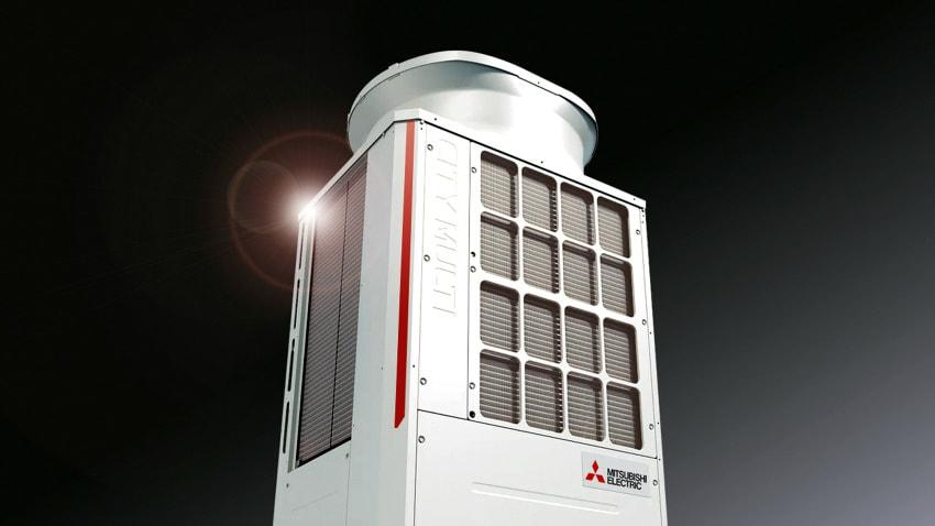 mitsubishi electric vrf City Multi units quiet efficient air conditioning
