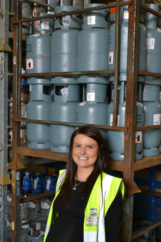 Hayley Billson in the Dean and Wood warehouse