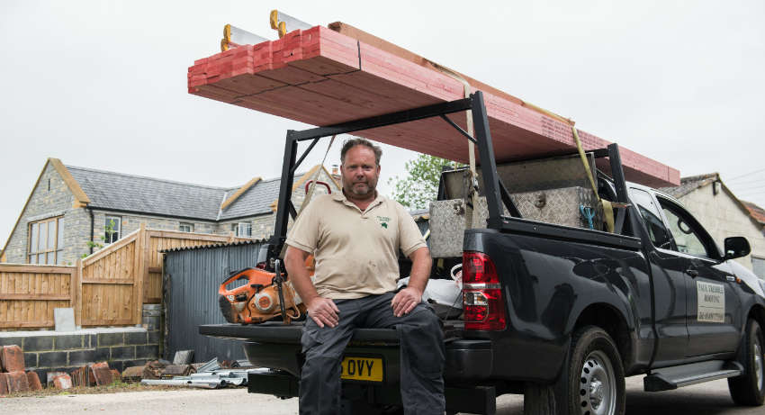 Paul Trebble with his L200 fitted with the Invis-a-rack   - ACR Journal