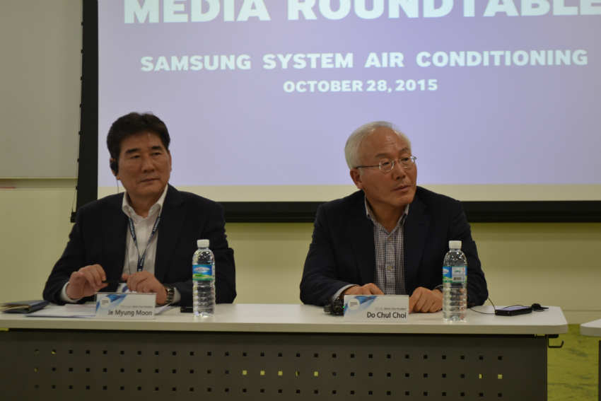 Samsung Executive's at press conference - ACR Journal