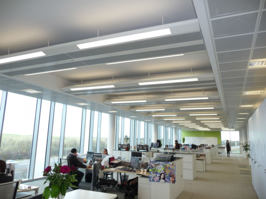 Office, chilled beams