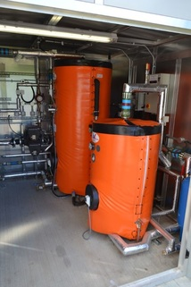 The DK Heat Recovery tanks in the plant room