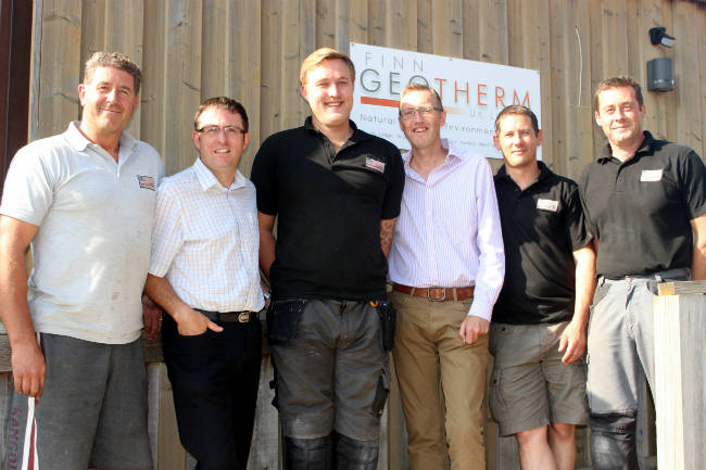 New team members at Finn Geotherm - heat pumps today