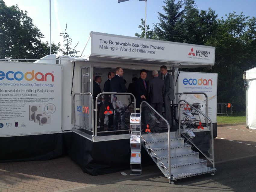 The Ecodan exhibition van - Heat Pumps Today