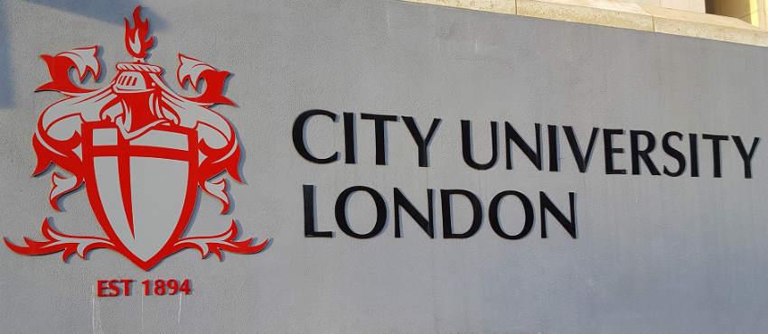 City University Logo on building