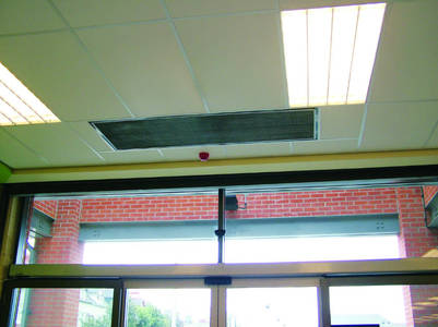 Recessed Water Room Air Curtain