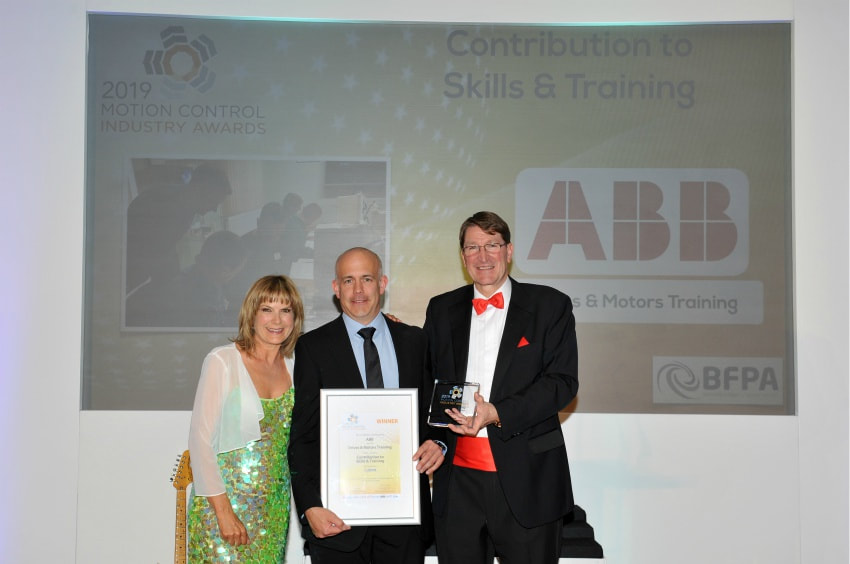 ABB drives motors energy usage award training skills