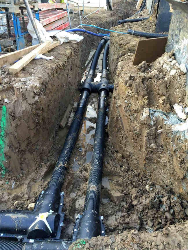 valve pre-insulated pipe Camden District Heating System