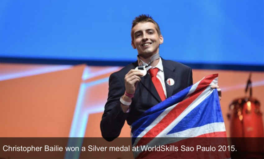 Christopher Bailie won a Silver medal at WorldSkills Sao Paulo 2015
