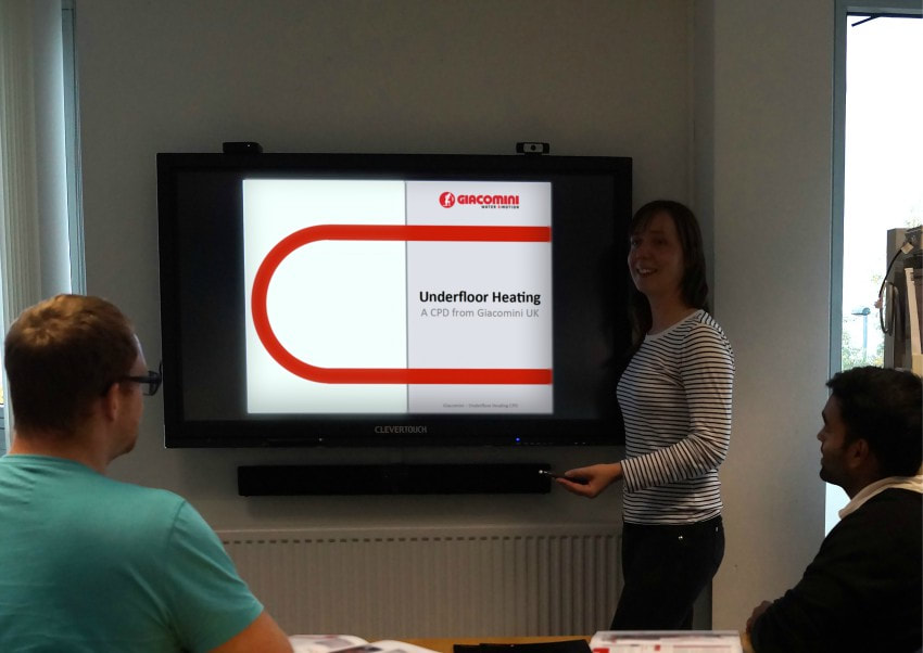 underfloor heating cpd giacomini training RIBA approved