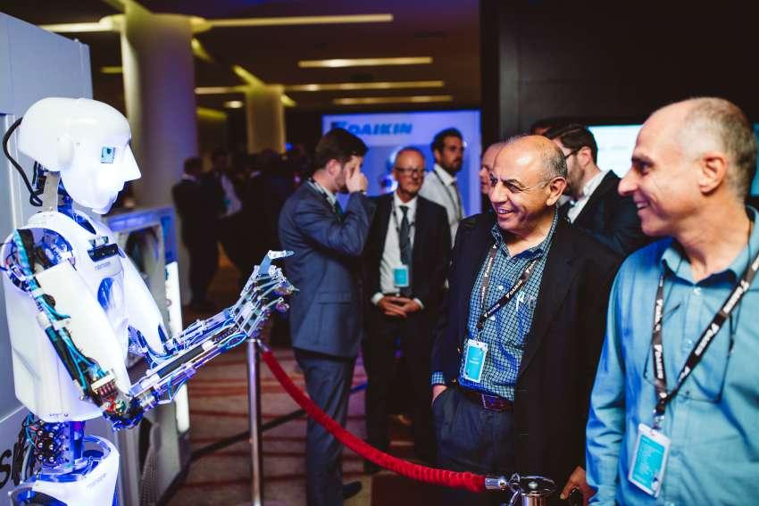 Daikin UK Partner Event robot Sky Air A-series