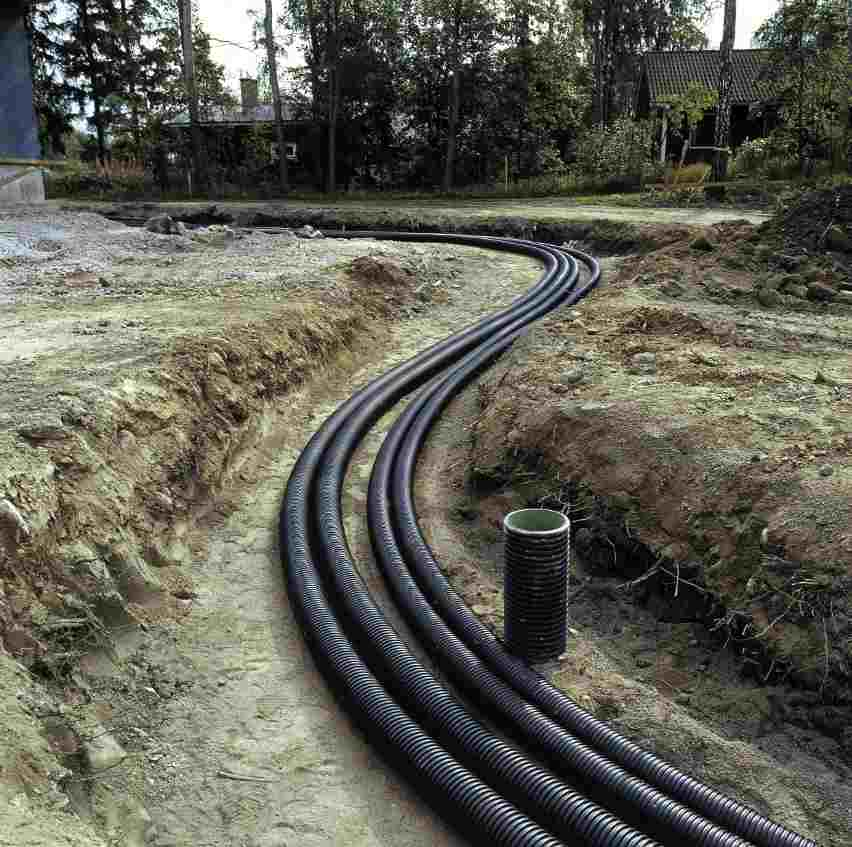 polymer pipe district heating system