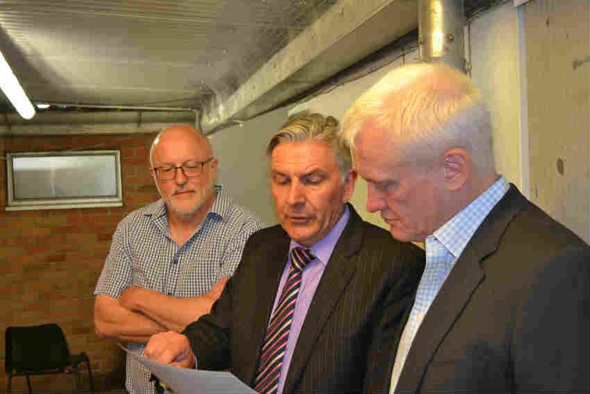 Nigel Upson (Soanes), Ken Riley (DK Heat Recovery), Graham Stuart MP