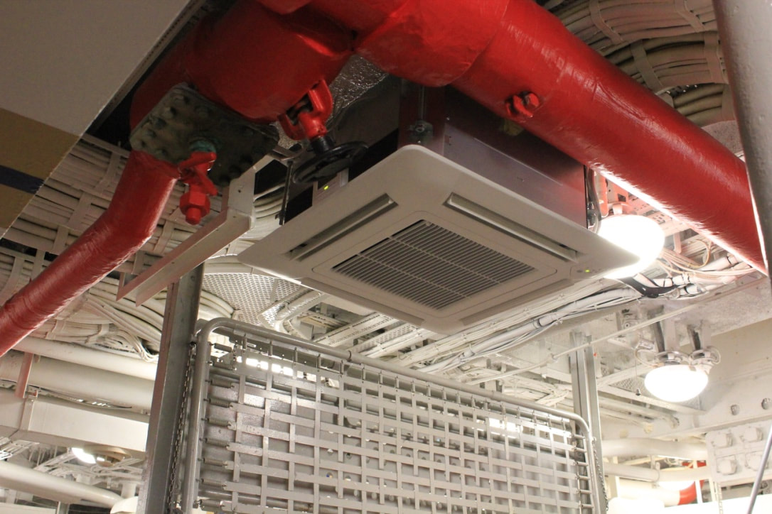 fujitsu vrf heat pump air conditioning system HMS Belfast