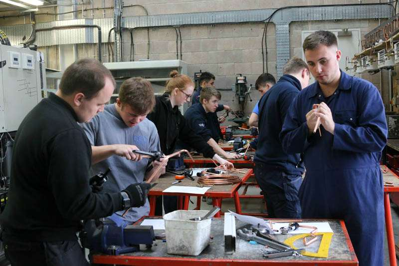 glasgow college training air conditioning engineering student