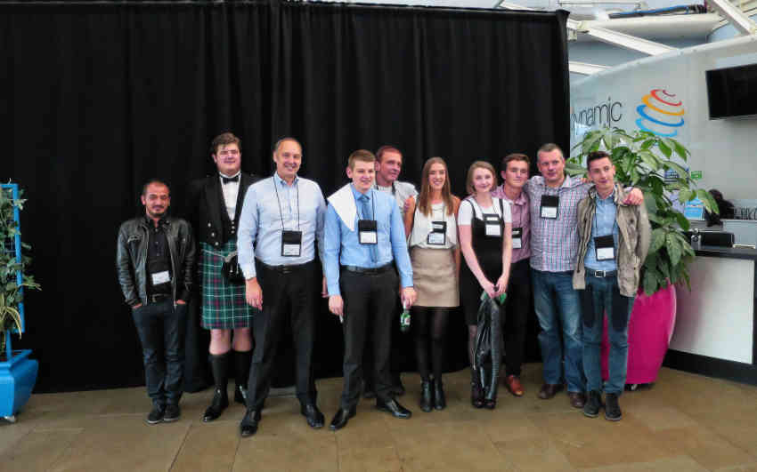 Young Engineers with IOR President, Steve Gill (third from left)