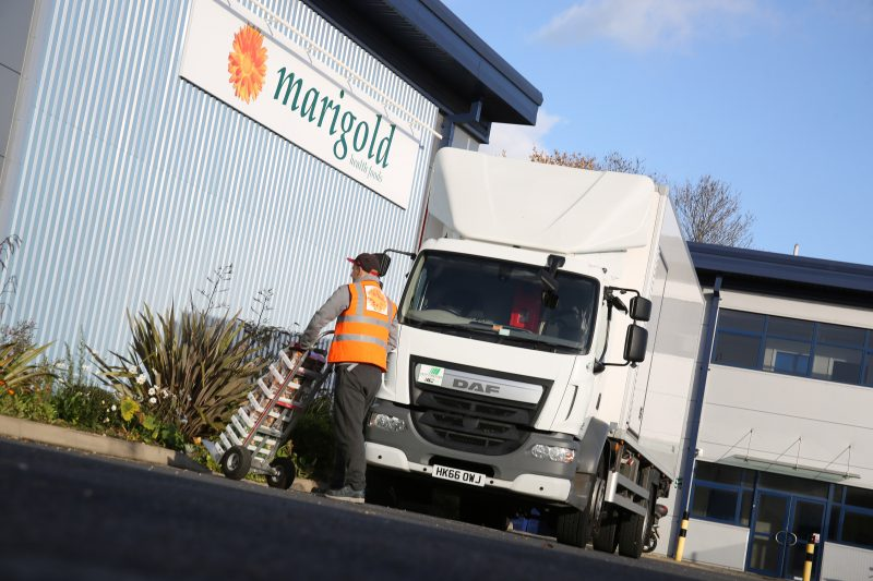refrigerated transport truck