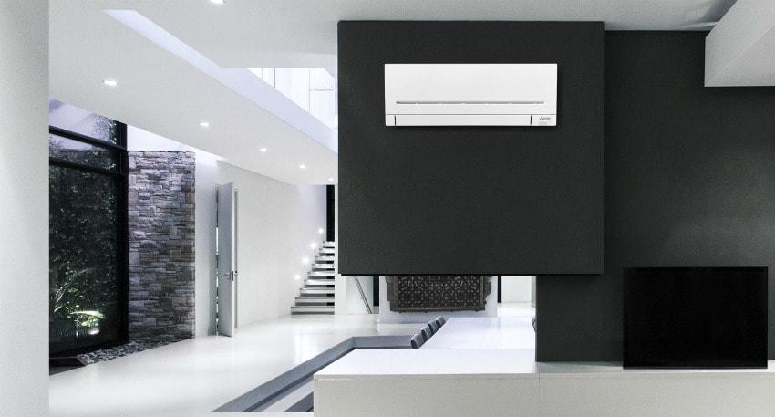 mitsubishi wall-mounted r32 refrigerant air conditioning