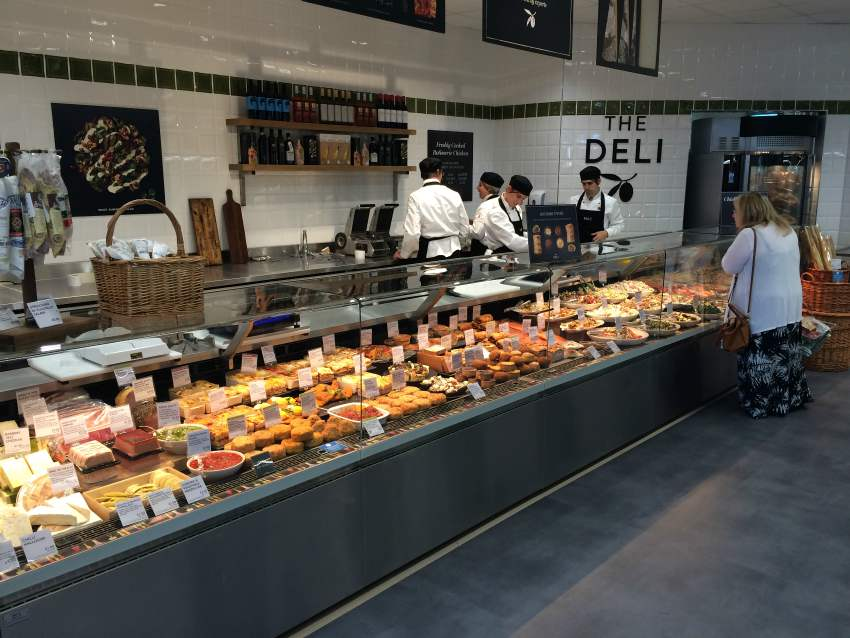 chilled counter retail food M&S