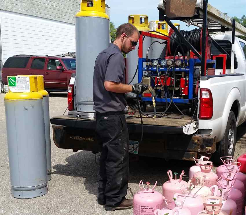 rapid recovery refrigerant a-gas uk