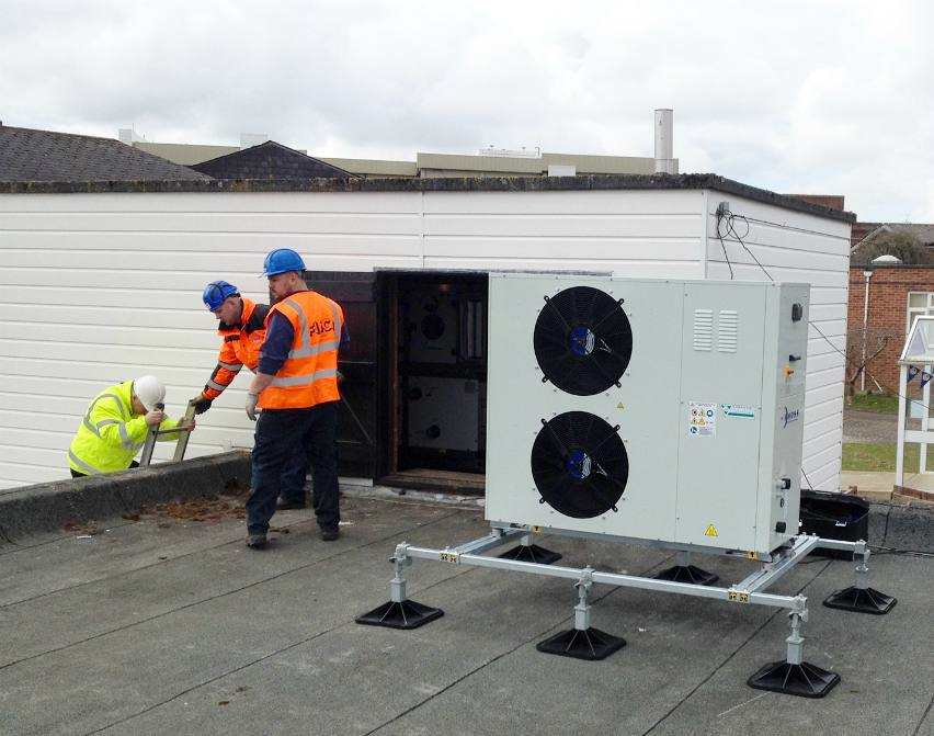heat pump chiller roof heating cooling dx