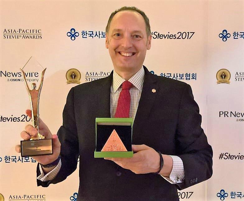 steve gill gold stevie award tokyo mentoring japan asia pacific