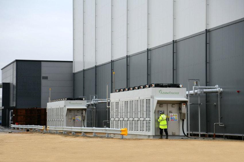 industrial refrigeration ammonia refrigerant compressor EC fan