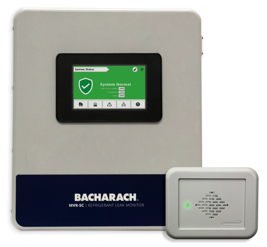 refrigerant leak detection controller monitoring safety north america
