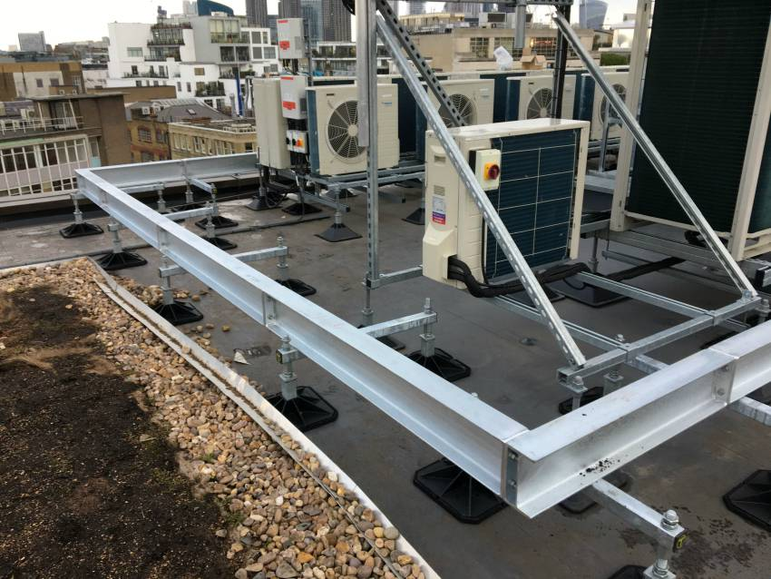 hvac plant rooftop acoustic screening support system cooling air conditioning