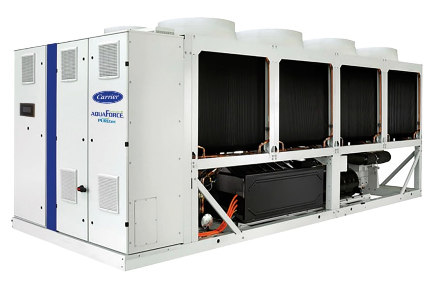 carrier chiller HFO technology screw chiller low GWP refrigerant