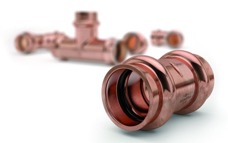 acr press fit coupling copper tube installation contractor