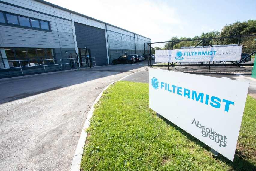 air filtration extraction logistics telford shropshire filtermist