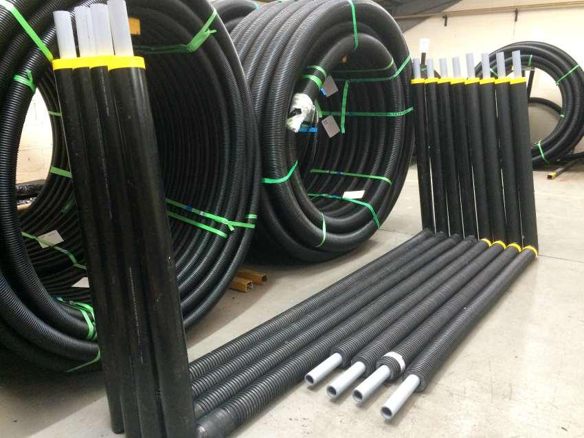 pipework air source heat pump