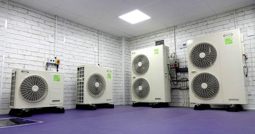 air source heat pump r32 refrigerant inverter