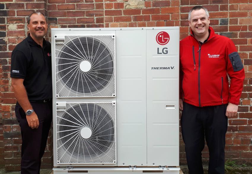 lg air to water heat pump renewables green energy R32 monobloc splits