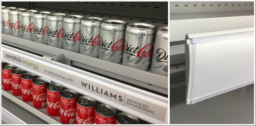 refrigeration cabinet tesco supermarket shelf edge technology energy saving