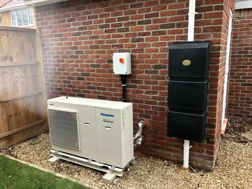 air source heat pump air to water renewables energy efficient low carbon sustainable Panasonic