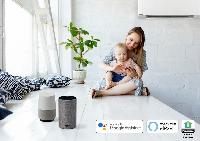 voice control panasonic air conditioning alexa google