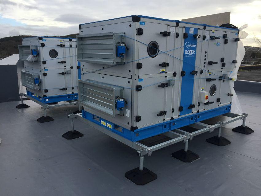 frame support air conditioning condenser air handling unit