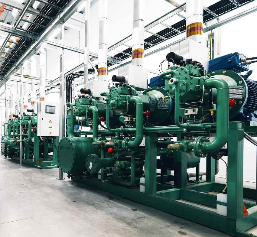 refrigeration ammonia compressor packs food procession cooling
