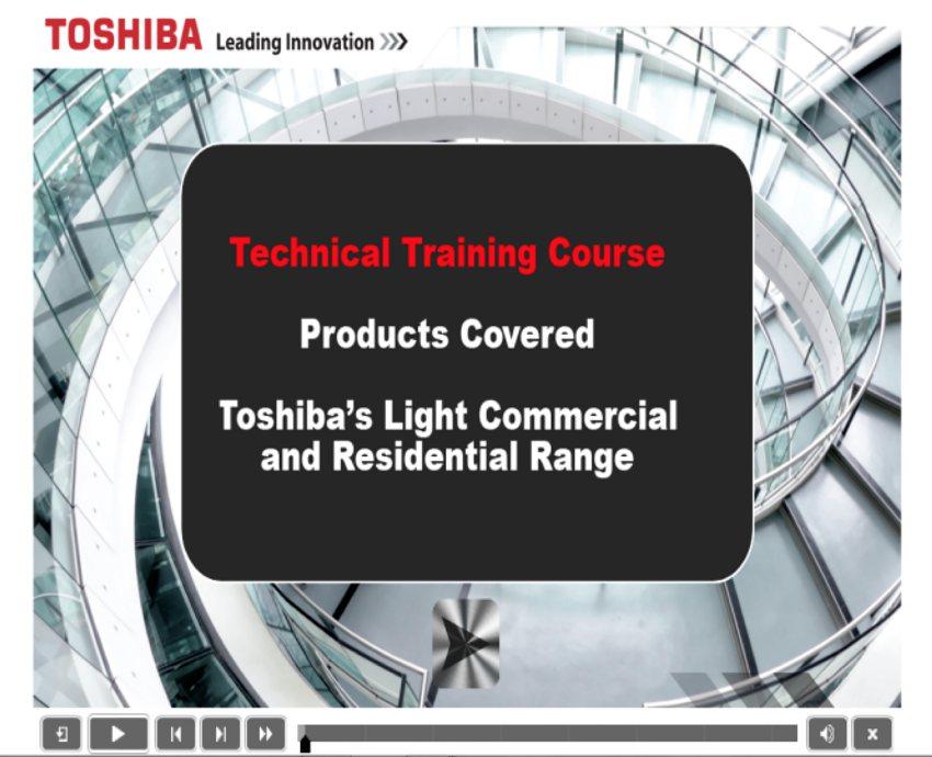 toshiba online training installer engineer skills