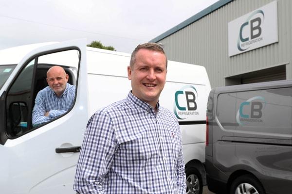 Tom Hannaby with Jason Beament at CB Refrigeration