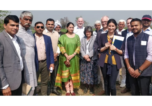 Delegation members viisited farms as part of their information-gathering visit to Delhi, Haryana and Hyderabad