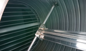 A JenAct UV Torpedo in-duct air disinfection unit