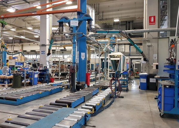 The new Clivet production line in Feltre, Italy