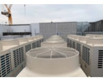 Toshiba outdoor condensing units on the roof at Landmark Manchester
