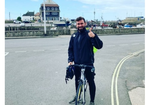 Richard Warry of Manzana is cycling 500 miles for charity