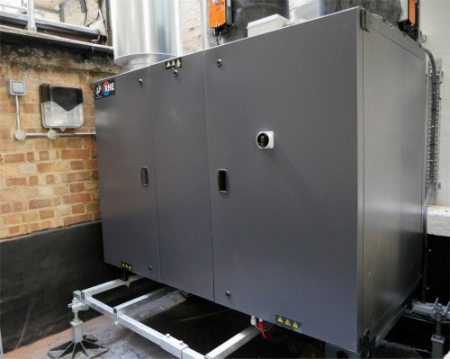Once fully assembled, the RHE units can be up to 2.5m x 1.6m in size